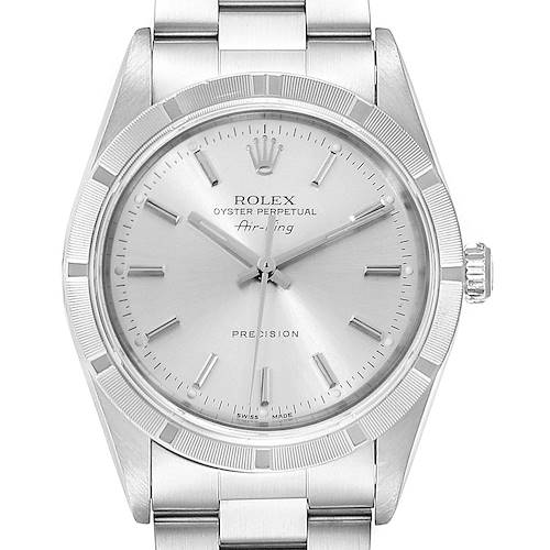 Photo of Rolex Air King Silver Dial Oyster Bracelet Steel Mens Watch 14010