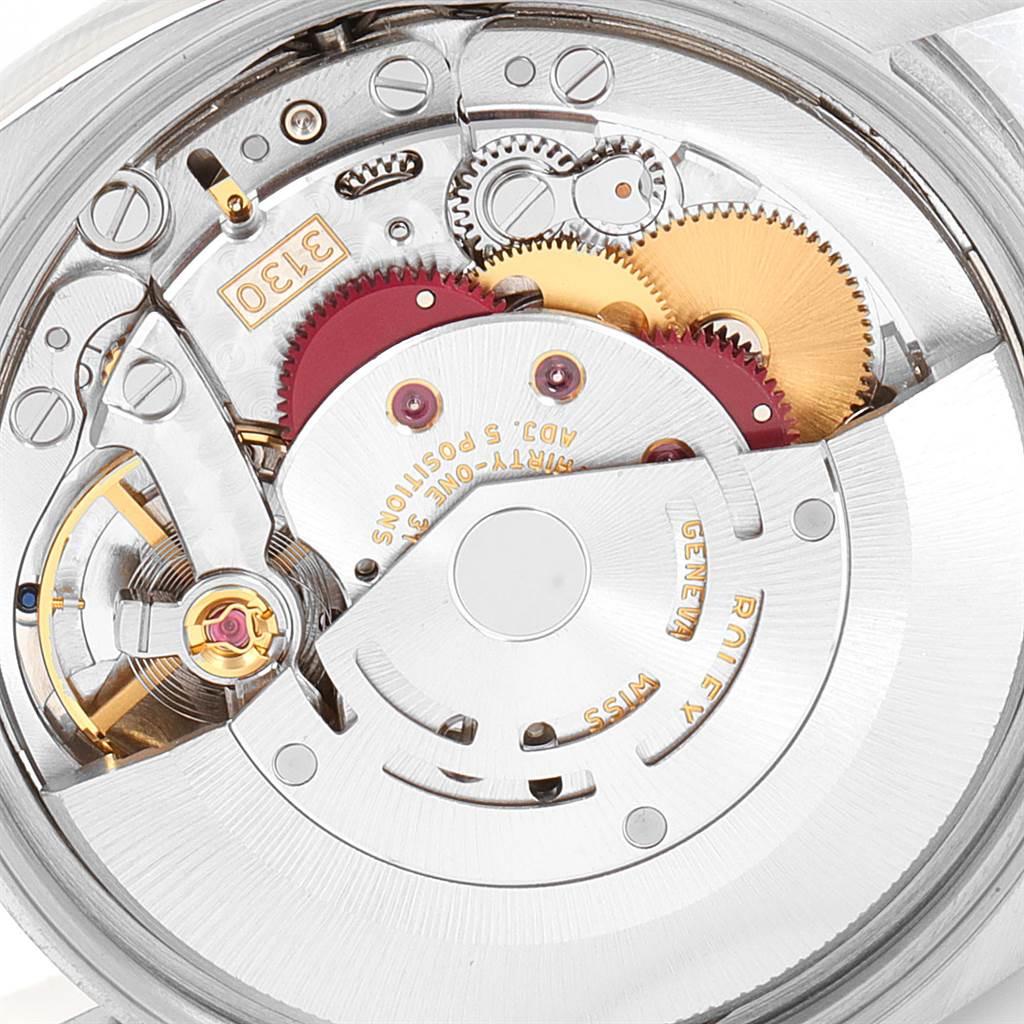 23190 Rolex Air King Steel White Gold Fluted Bezel Mens Watch 114234 SwissWatchExpo