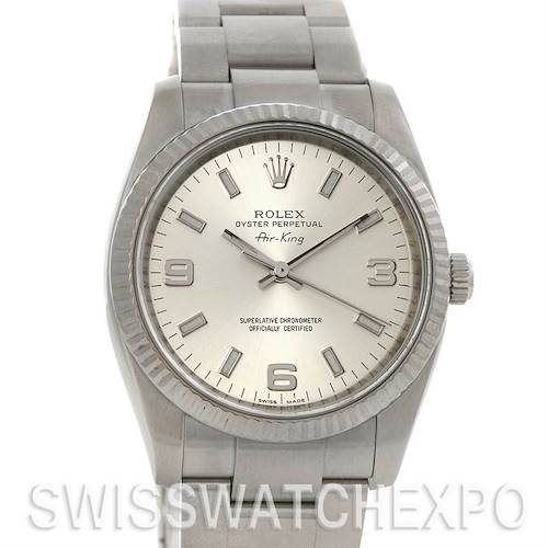 Photo of Rolex Ss & 18 w Gold Oyster Perpetual Air King 114234