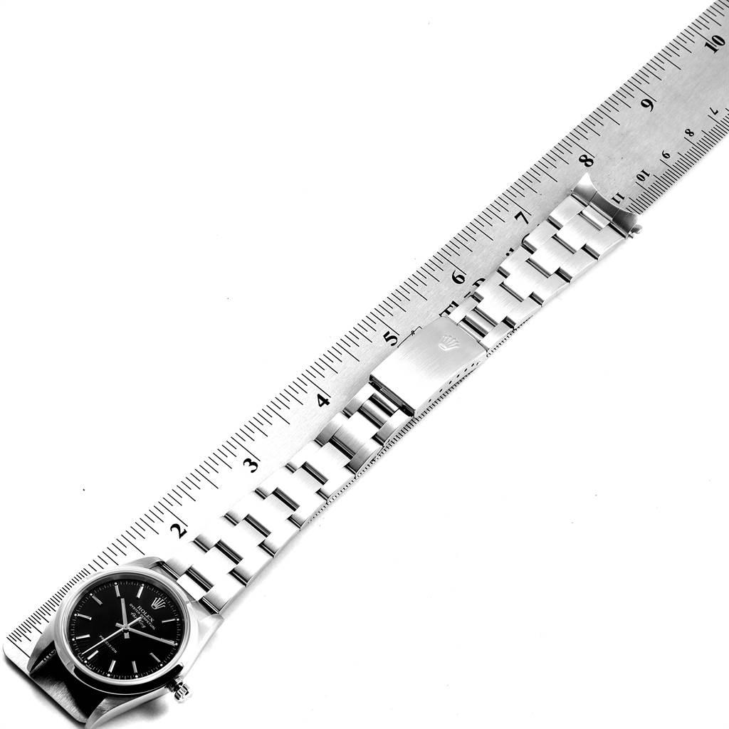 23572 Rolex Air King 34 Black Dial Domed Bezel Mens Watch 14000 SwissWatchExpo