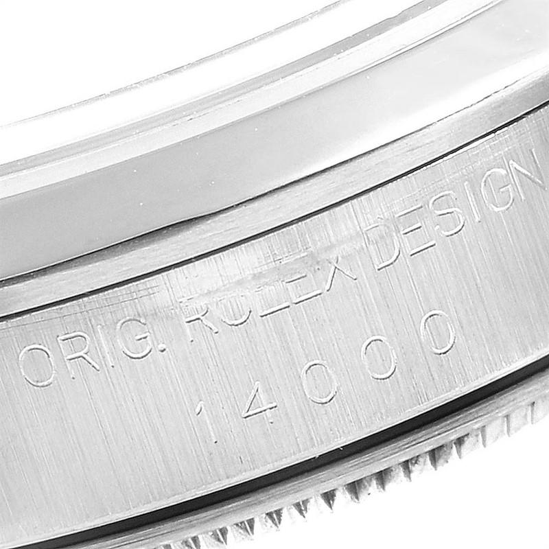 Rolex Air King 34 Salmon Dial Domed Bezel Steel Unisex Watch 14000 SwissWatchExpo