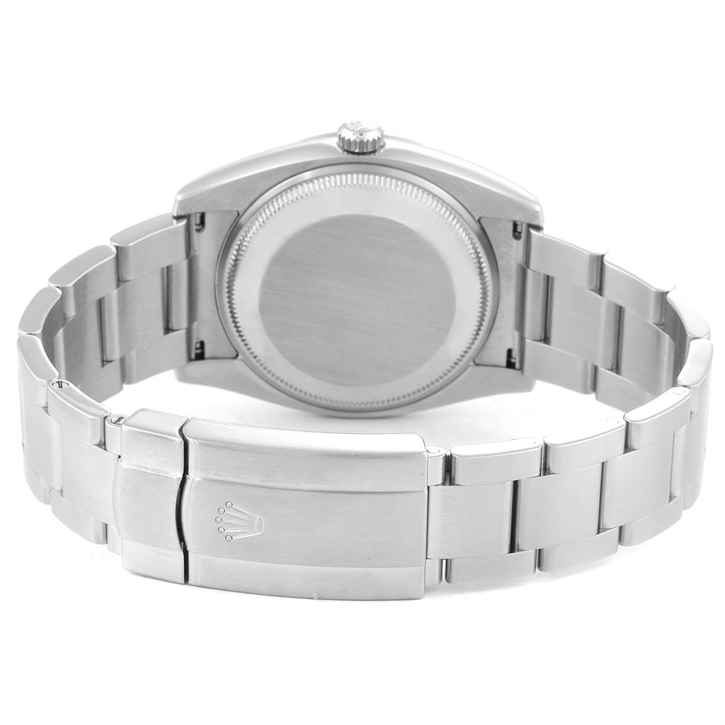 Rolex Oyster Perpetual Air King Rhodium Dial Mens Watch 114210 Box Card SwissWatchExpo