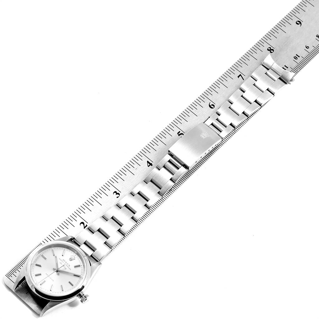 24922 Rolex Air King 34mm Silver Dial Oyster Bracelet Steel Mens Watch 14000 SwissWatchExpo