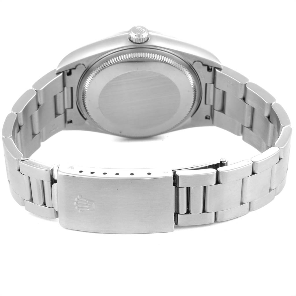 Rolex Air King 34mm Silver Dial Oyster Bracelet Steel Mens Watch 14000 SwissWatchExpo