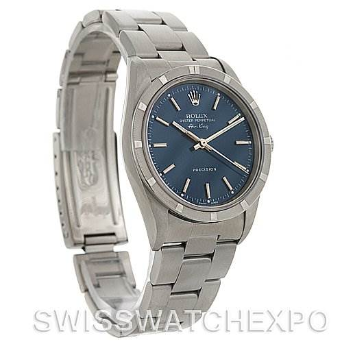 2727 Rolex Oyster Perpetual Air King Watch 14010 Blue Dial SwissWatchExpo