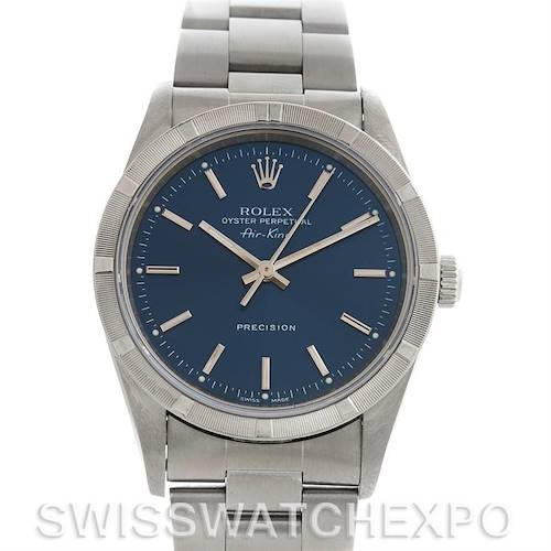 Photo of Rolex Oyster Perpetual Air King Watch 14010 Blue Dial