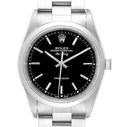 Photo of Rolex Air King 34 Black Dial Automatic Steel Mens Watch 14000