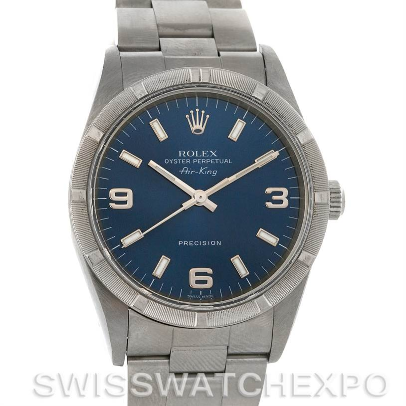 2878 Rolex Oyster Perpetual Air King Steel Watch 14010 SwissWatchExpo