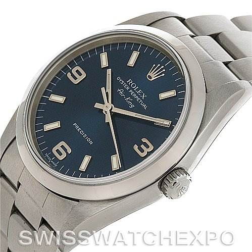 2901 Rolex Rolex Oyster Perpetual Air King Steel Watch 14000 SwissWatchExpo