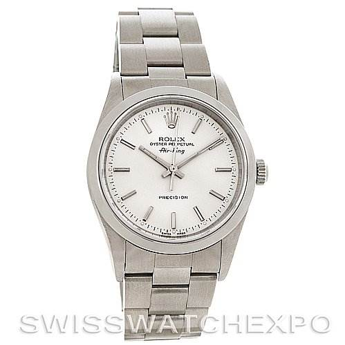 2963 Rolex Oyster Perpetual Air King Steel Watch 14000M SwissWatchExpo