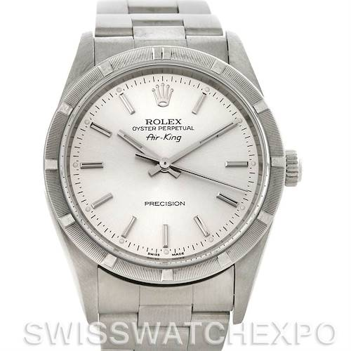 Photo of Rolex Oyster Perpetual Air King Watch Silver Dial 14010