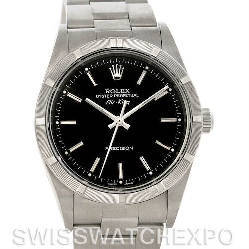 Photo of Rolex Oyster Perpetual Air King Watch 14010 Black Dial