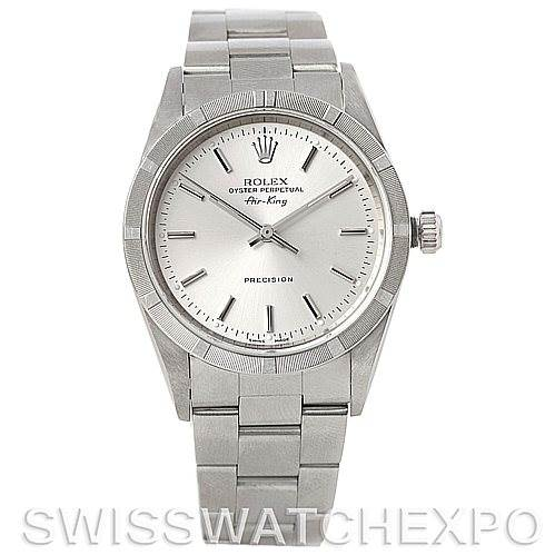 5205 Rolex Air King men's Steel Watch 14010 SwissWatchExpo