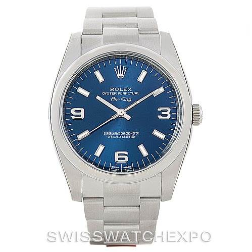 77002d597f84 ... 7099 Rolex Air King Steel Mens Watch 114200 Year 2013 Unworn  SwissWatchExpo ...