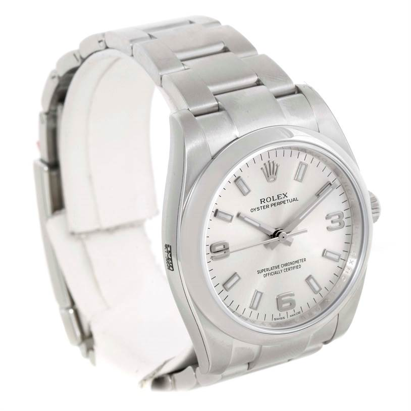 9766 Rolex Oyster Perpetual Air King Silver Dial Watch 114200 Unworn SwissWatchExpo