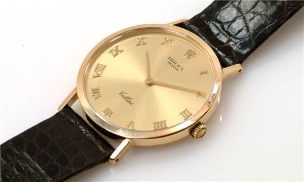 Rolex Mens 18k Yellow Gold Cellini Model 4112 Very Rare SwissWatchExpo
