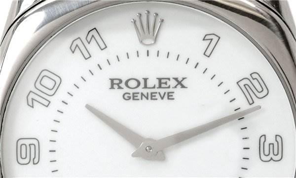 Rolex Mens 18k White Gold Danaos Cellini 4233/9 SwissWatchExpo