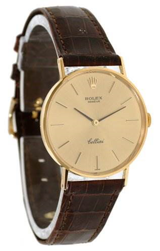Rolex Mens 18k Yellow Gold Cellini Model 3833 Very Rare SwissWatchExpo