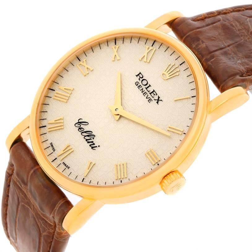 11114 Rolex Cellini Classic 18K Yellow Gold Jubilee Dial Watch 5115 SwissWatchExpo