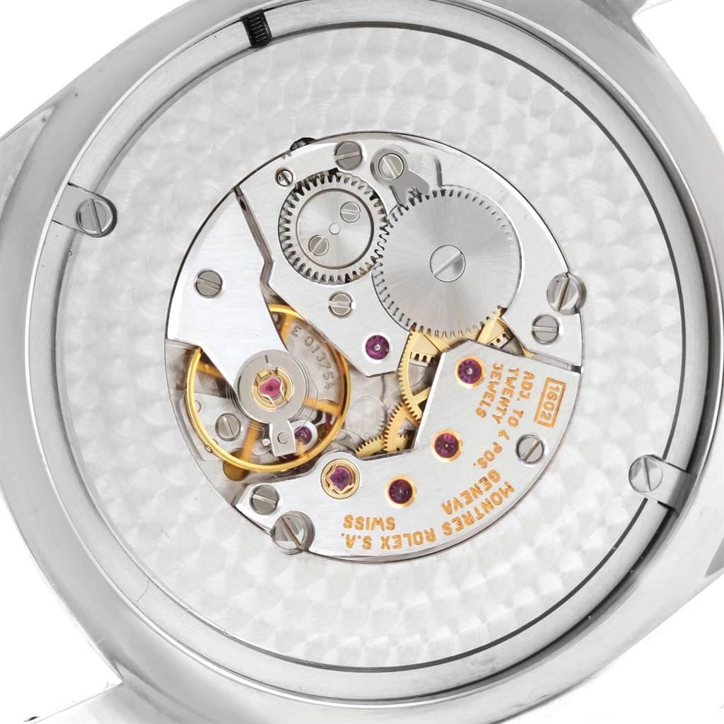 11570x Rolex Cellini Danaos XL White Gold Black Strap 38mm Mens Watch 4243 SwissWatchExpo