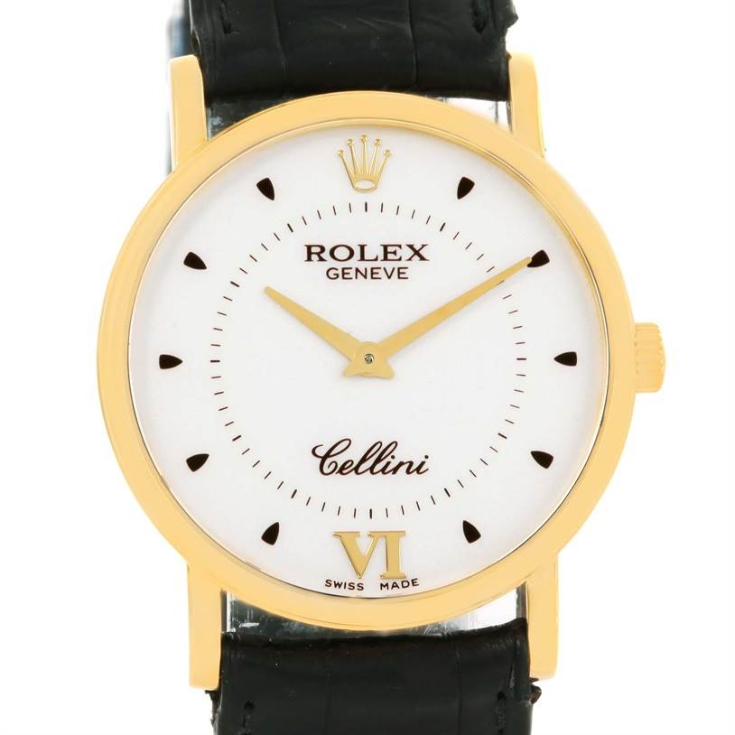 12633 Rolex Cellini Classic Mens 18K Yellow Gold Mechanical Watch 5115 SwissWatchExpo