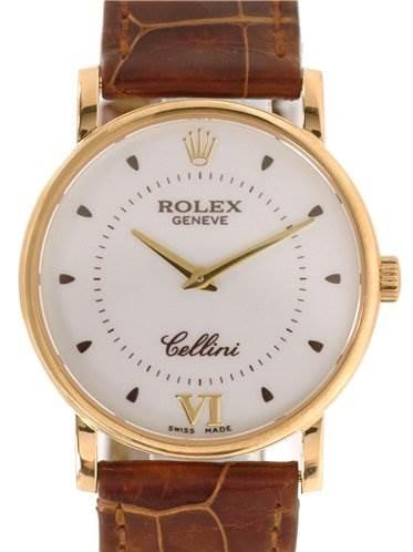 Rolex Mens 18k Yellow Gold Cellini Classic 5115 SwissWatchExpo