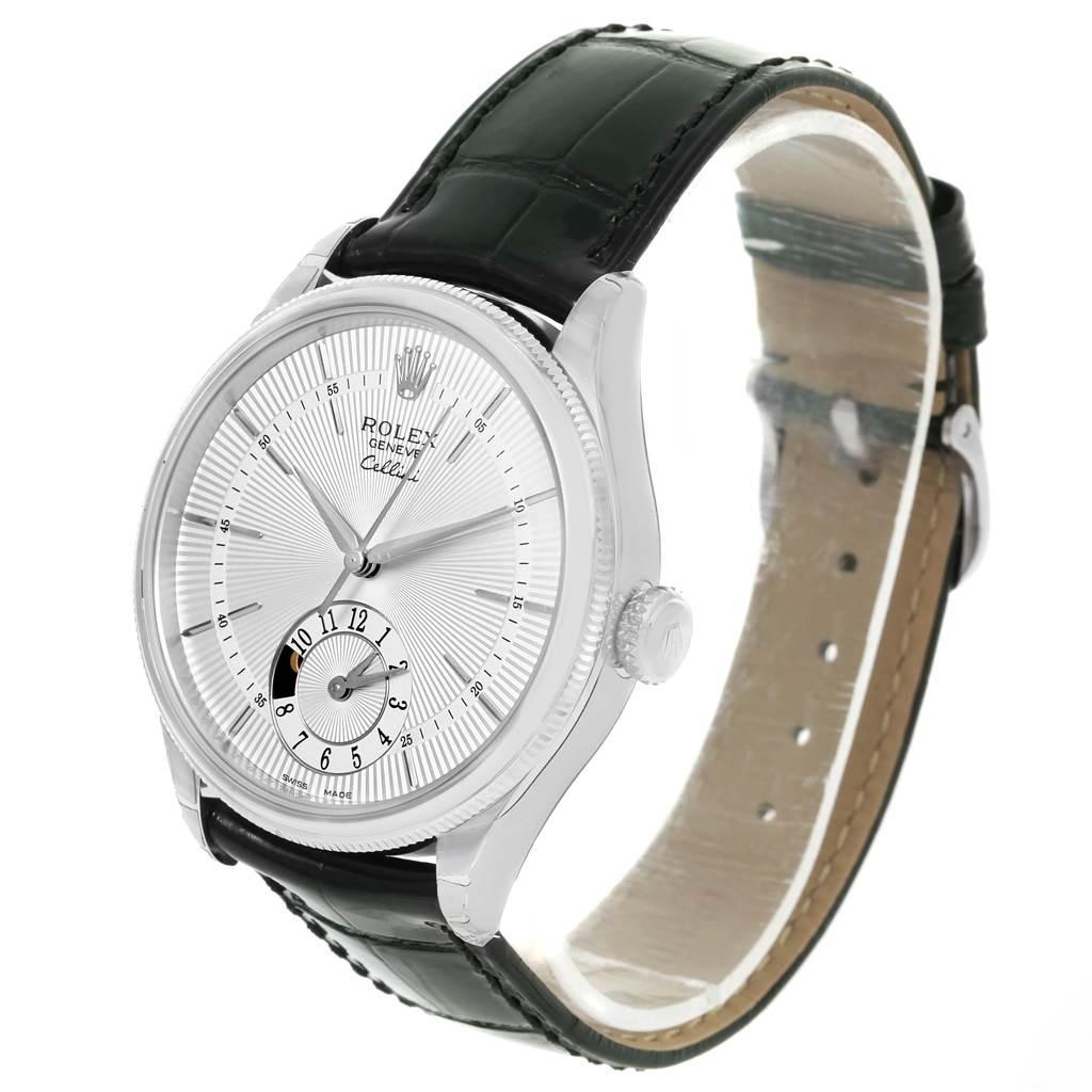 Rolex Cellini Dual Time White Gold Automatic Watch 50529 Unworn SwissWatchExpo