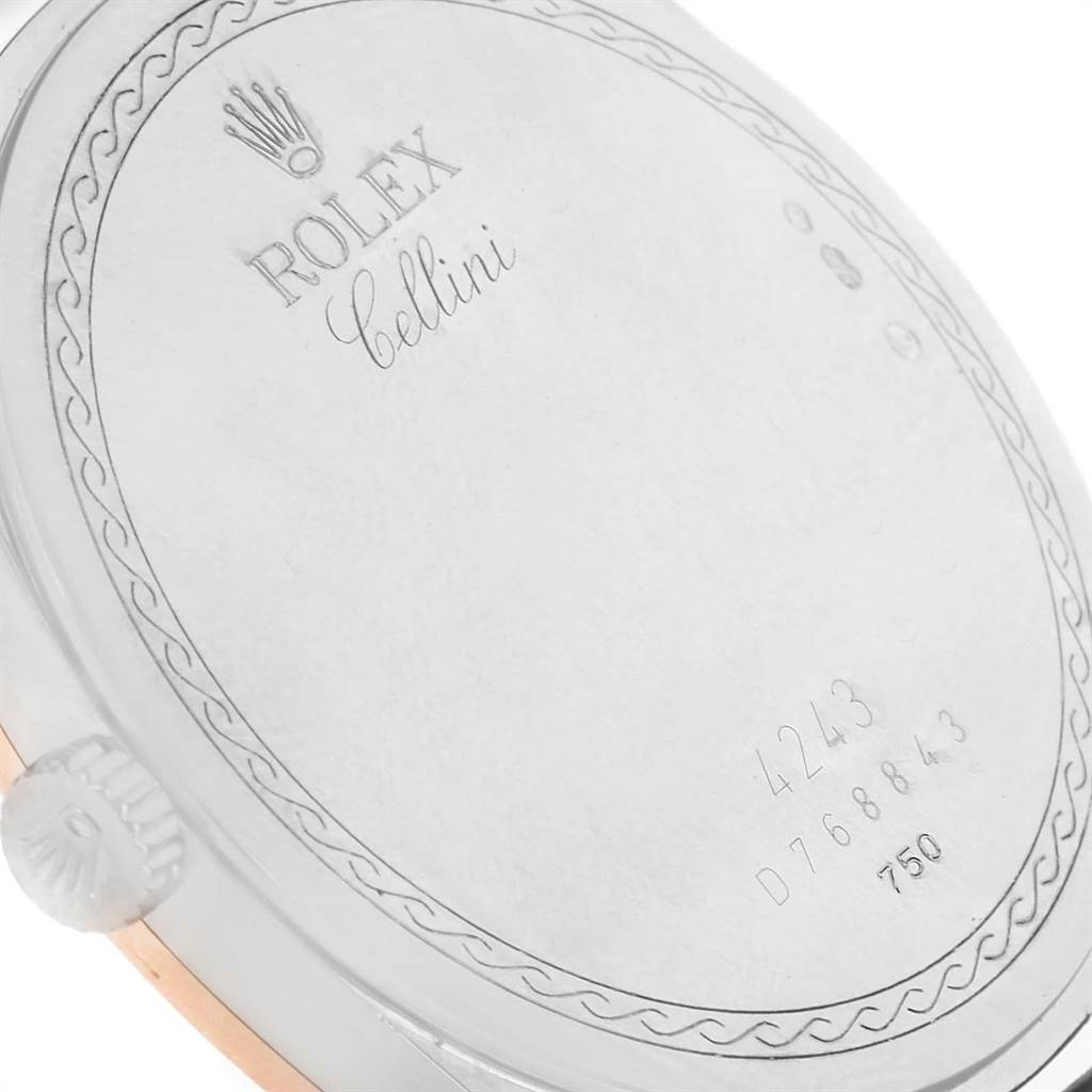 13850A Rolex Cellini Danaos 38mm White and Rose Gold Mens Watch 4243 SwissWatchExpo