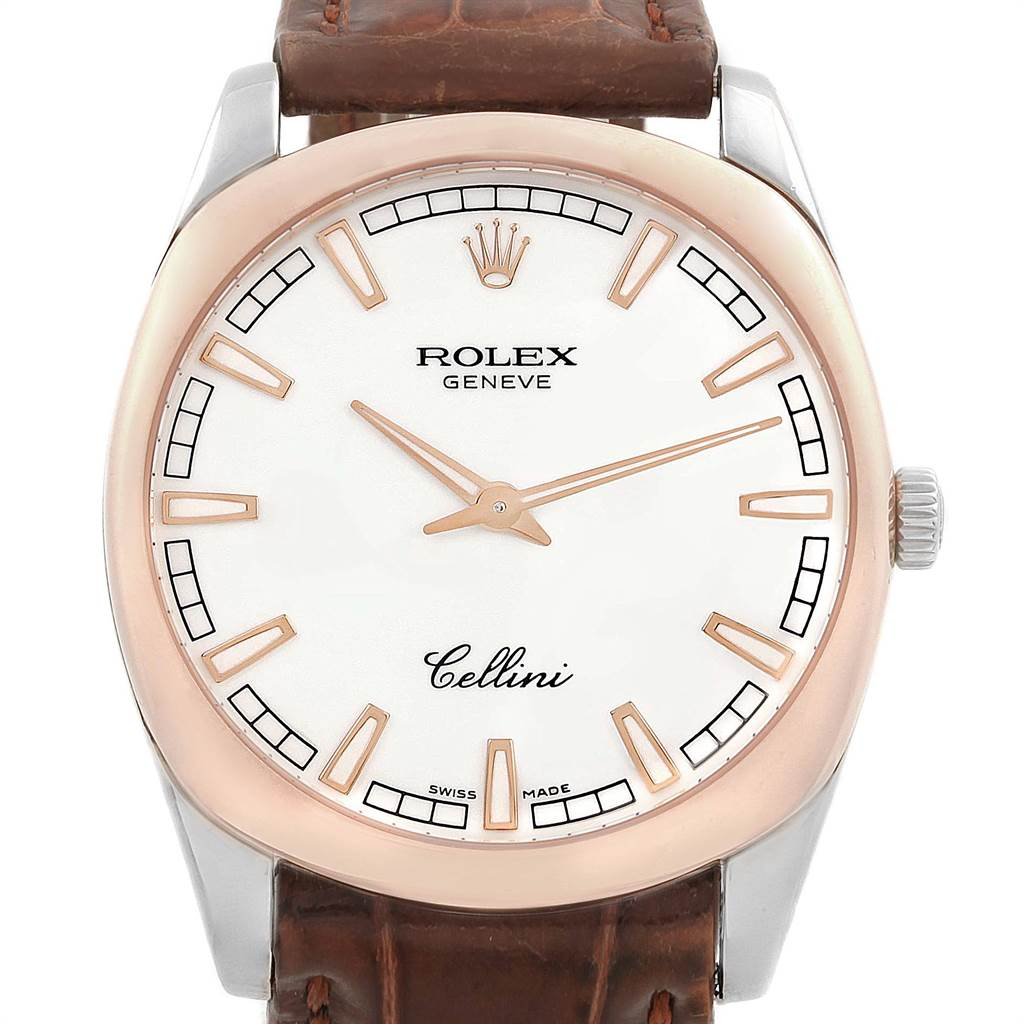 Rolex Cellini Danaos 38mm White And Rose Gold Mens Watch 4243