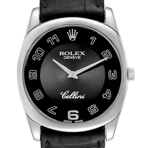 Photo of Rolex Cellini Danaos 18k White Gold Black Dial Unisex Watch 4233