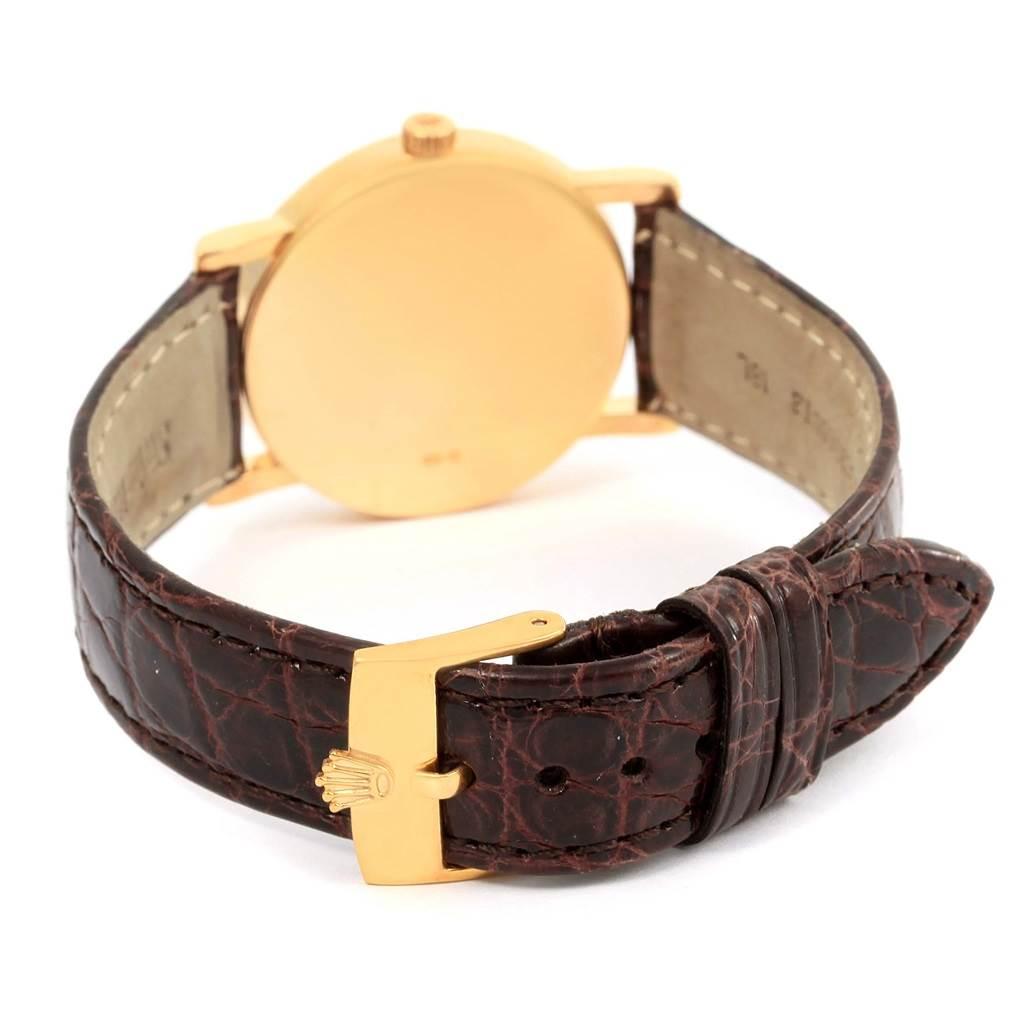 14776 Rolex Cellini Classic 18K Yellow Gold Slate Roman Dial Watch 5115 SwissWatchExpo