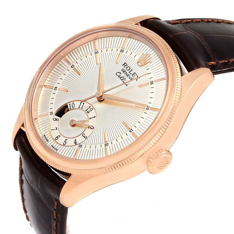 Rolex Cellini Dual Time Everose Rose Gold Automatic Mens Watch 50525 SwissWatchExpo