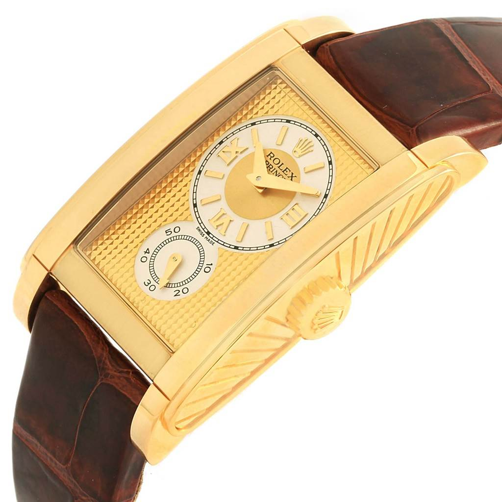 Rolex Cellini Prince Yellow Gold Champagne Dial Watch 5440 Box Papers SwissWatchExpo