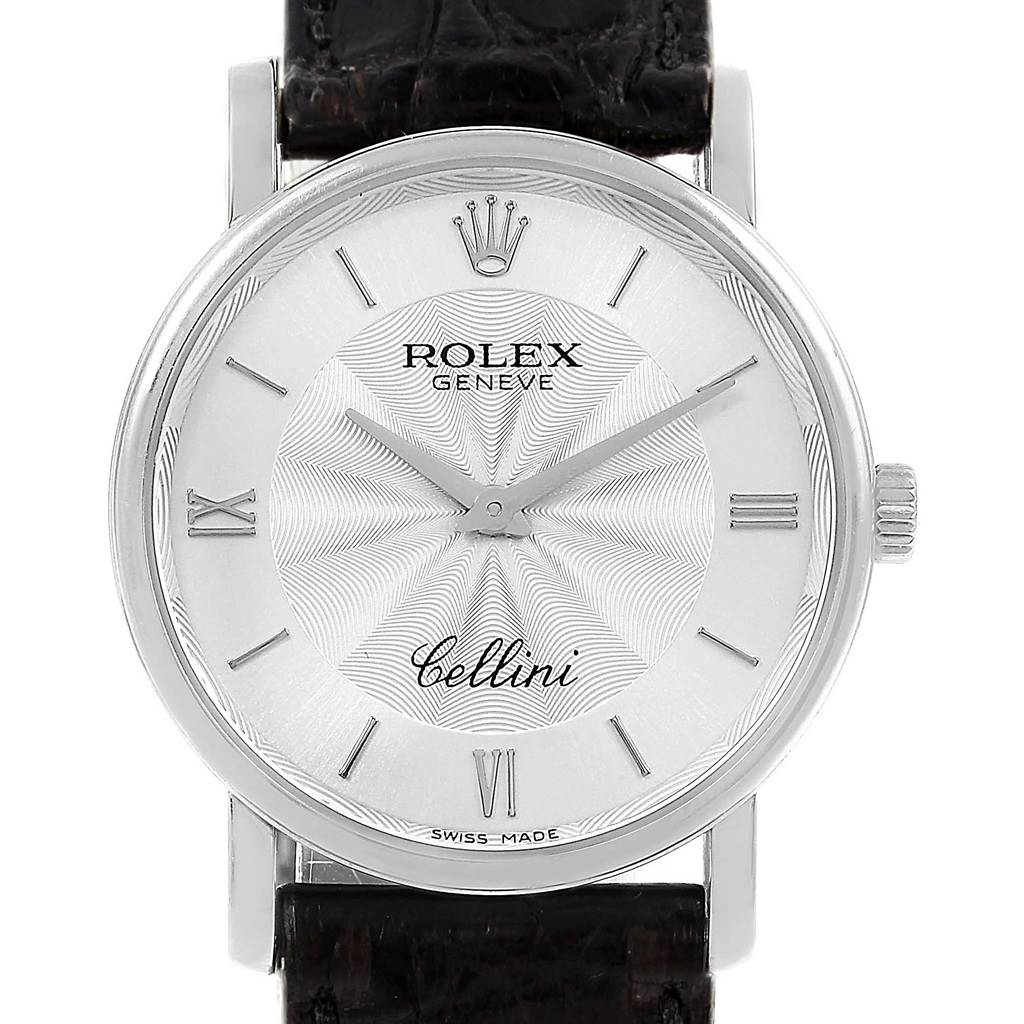 70a0e7130a4 ... 16163 Rolex Cellini Classic White Gold Decorated Silver Dial Mens Watch  5115 SwissWatchExpo ...