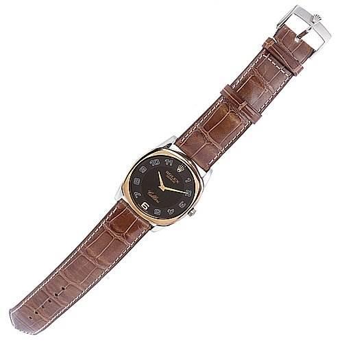 Rolex Cellini Danaos Watch 4233 18k White/rose Gold SwissWatchExpo