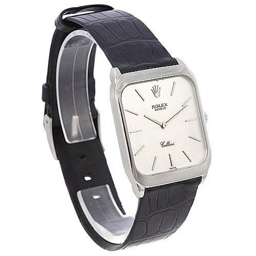 Rolex Cellini Mens 18k White Gold Watch 4135 SwissWatchExpo