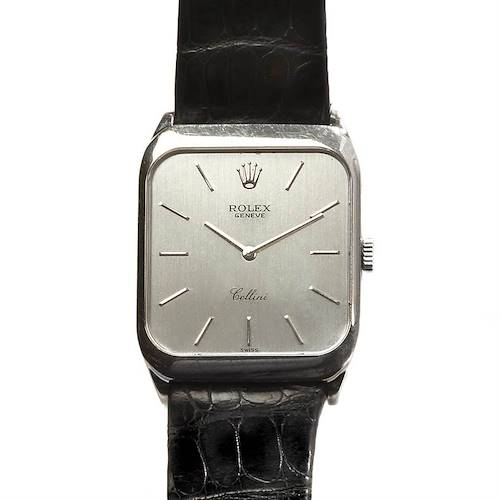 Photo of Rolex Cellini Mens 18k White Gold Watch 4135