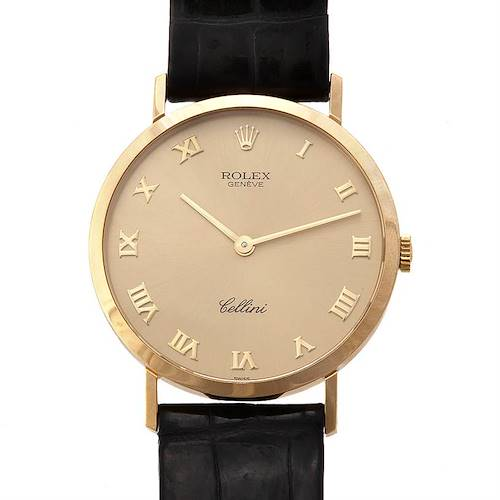 Photo of Rolex Cellini Mens 18k Yellow Gold Classic Watch 4112