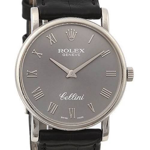 Photo of Rolex Cellini Classic Mens 18k w Gold 5115/9 Year 2008