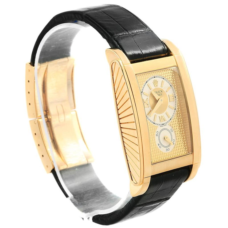 Rolex Cellini Prince Yellow Gold Champagne Dial Watch 5440 Box SwissWatchExpo