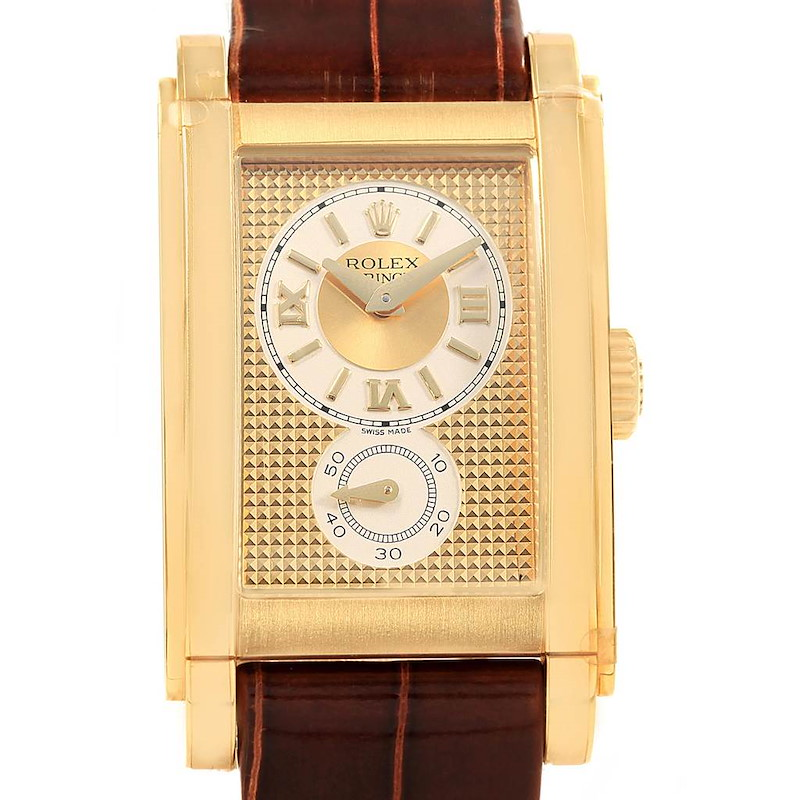 Rolex Cellini Prince 18K Yellow Gold Champagne Dial Watch 5440 Unworn SwissWatchExpo
