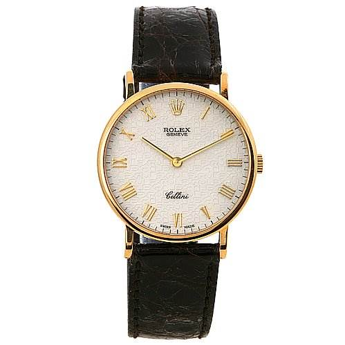 2435 Rolex Cellini Classic 18k Yellow Gold Watch 5112 SwissWatchExpo