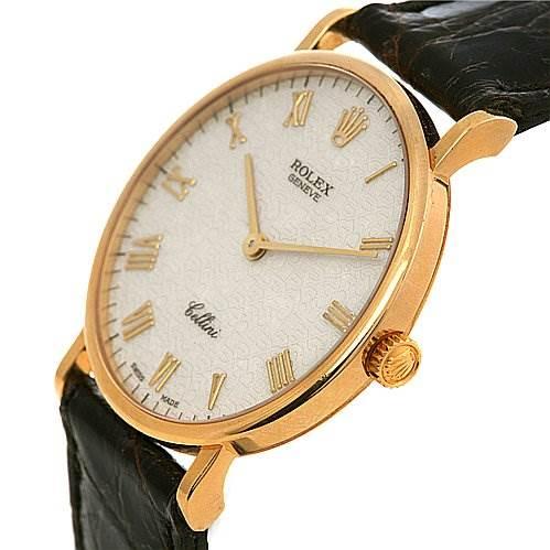 2435 Rolex Cellini Classic 18k Yellow Gold Watch 5112 SwissWatchExpo