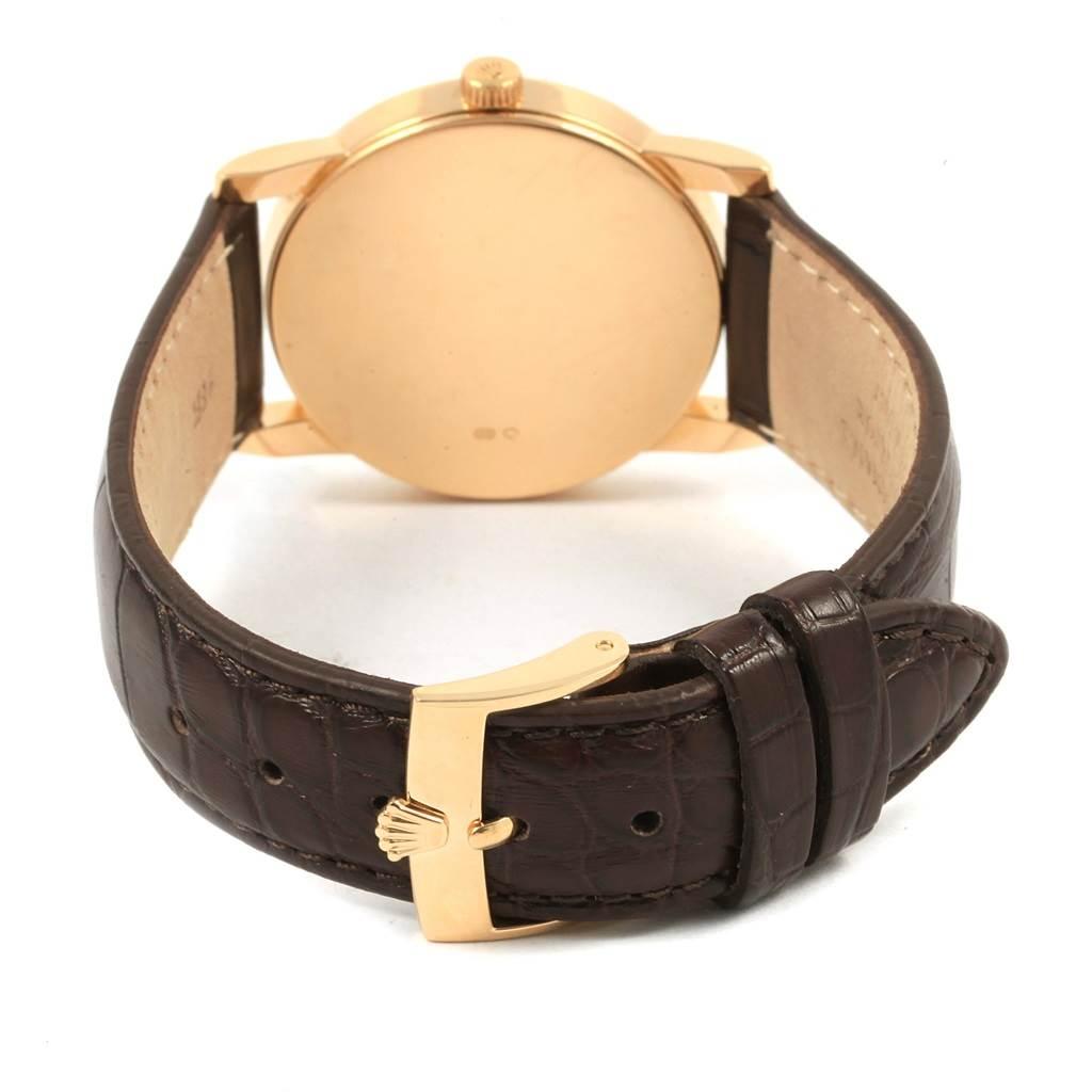 21051 Rolex Cellini Classic 18k Yellow Gold Ivory Jubilee Dial Watch 5116 SwissWatchExpo