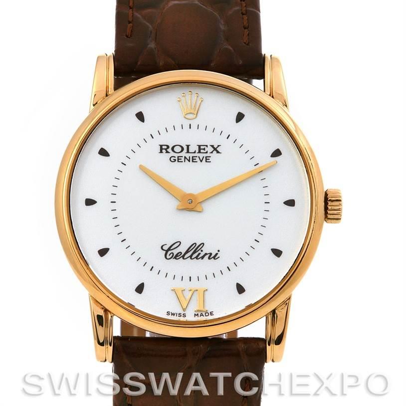 2481 Rolex Cellini Classic Mens 18k Yellow Gold 5116 2001-02 SwissWatchExpo