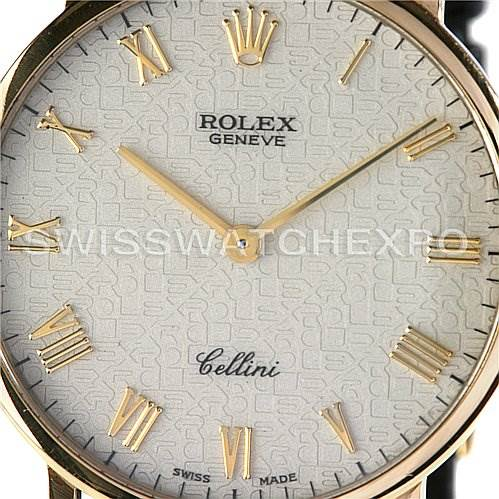 2484 Rolex Cellini Classic 18k Yellow Gold Watch 5112 SwissWatchExpo