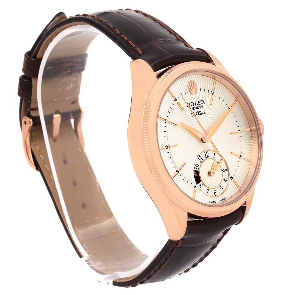 15172A Rolex Cellini Dual Time Everose Gold Automatic Mens Watch 50525 Box Card SwissWatchExpo