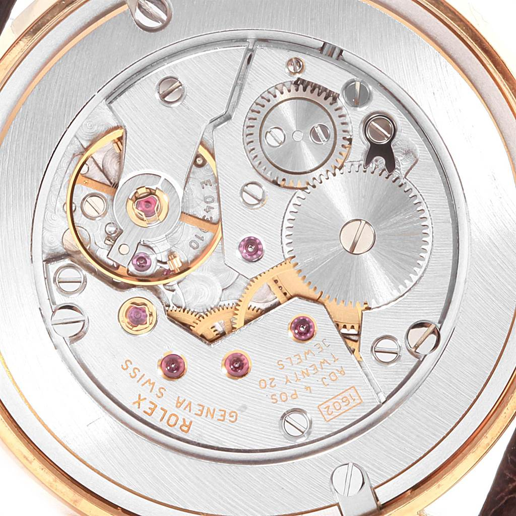 22040 Rolex Cellini Classic Yellow Gold Anniversary Dial Watch 5115 Box SwissWatchExpo