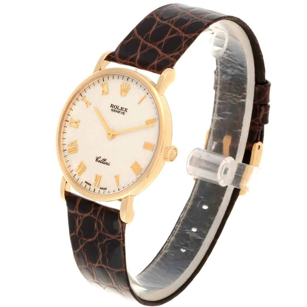 22033 Rolex Cellini Classic Yellow Gold Anniversary Dial Mens Watch 5112 SwissWatchExpo