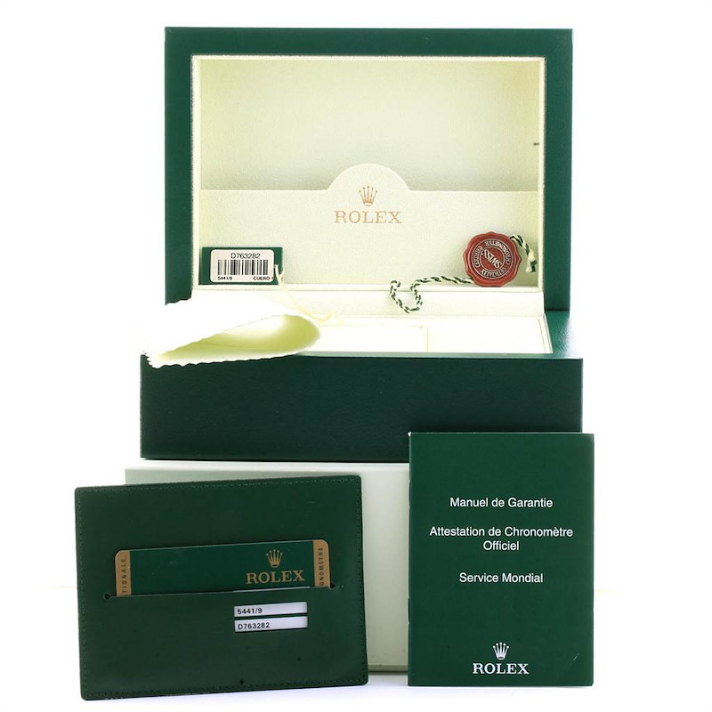 Rolex Cellini Prince White Gold Silver Dial Mens Watch 5441 Box Card SwissWatchExpo